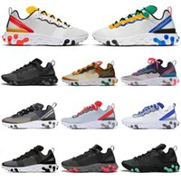 New Running Shoes React Element 87s 55s Men Women Light Bone...