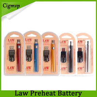 Gesetz Vorheizungsbatterie USB-Ladegerät Kit 1100mAh o Stift-Knospe-Berührungsvariable Spannungsbatterien für CE3 G2 G5 TH205 MT6-Patronen DHL 0266177