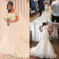 Vintage Dentelle Robes de mariée avec veste Bolero 2020 Sweetheart Appliques Country Boho Robes de mariée Long Plus Taille Vestidos