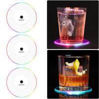 LED Bar Paspaslar Yuvarlak Kare Renkli Kupası Ped Aydınlık KTV Işık Taban Yerçekimi İndüksiyon Pil Bar Araçları