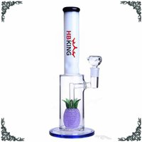 Hot selling glass bong Hbking K130 Pineapple honeycomb perc ...