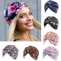 Explosion models garden small floral twist cap cotton turban...