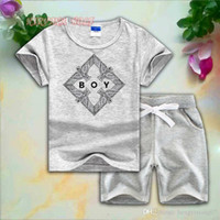 BOY Style Eagle Childrens Sets 1-7T Kids 8 colori T-shirt pantaloni corti 2 Pz / set Baby Boys Girls 95% cotone stile di stampa Summer Set