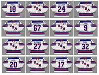 2010 2014 2016 Vintage Team ABD Forması 34 AUSTON MATTHEWS 67 MAX PACIORETTY 18 COLIN BEYAZ 24 RYAN CALLAHAN Beyaz Özel Hokey Formaları