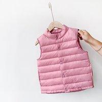 Neue Kinder Daunenweste-Licht-weiche Herbst-Winter-Kinder-Daunenmantel-Jacke für Baby-Mädchen 2-7 Y Weste