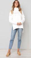 Kış Beyaz Sonbahar Yeni Kazak Süveter Moda Triko Uzun Kollu Bayan Garnitürleri Yüksek Kaliteli Ucuz En Kaliteli