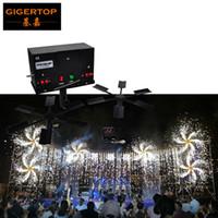 Gigertop TP-T100 Duplo Asa Fountain Fogos Firing Sistema No.5 Battery Power Supply Rotate Fogos Máquina Duplo Ala