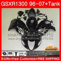 SUZUKI Hayabusa 용 GSXR 1300 광택 블랙 GSXR1300 96 02 03 04 05 06 07 24HC.18 GSX R1300 1996 2002 2003 2004 2005 2006 2007 페어링