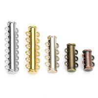 DC calientes de la venta 5pcs / lot de cobre Cierres magnéticos fuertes para los collares pulseras Fin Cierres Conector de joyería de DIY que hace fuentes
