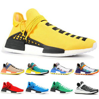 2021 Top Quality Human Race Mens Scarpe da corsa Designer Pharrell Williams Giallo Noble Core Nero Black Black Women Sneakers Scarpe da ginnastica Formatori Big Size 36-47