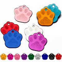 Commercio all'ingrosso 100pcs Pet Dog Dog ID Tag Collare Accessori Shape Personalizzato Dog Cat ID Tag Incisione su misura