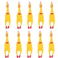 17 * 4CM الصرخة الدجاج لعب الأطفال متعة المطاط الأصفر الحيوانات الأليفة صار شو لعب لعبة تخفيف الضغط عن هدية حزب FFA3118