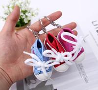 Creativo della catena chiave anello mini scarpe di tela della scarpa da tennis Tennis portachiavi Simulazione Sport Shoes pendente regalo Portachiavi divertente