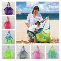 Bolsas Meninos Meninas Crianças Malha Handbag Areia Bag Sandboxes Backpack malha Praia sacola Crianças Shell Collector Brinquedos de armazenamento 45 * 30 centímetros DHL D3302