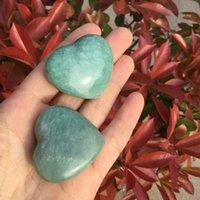 hediye kristal şifa Amazonit kalp reiki yapma 5adet Doğal mavi Amazonit taş kalp kristal kalp Takı