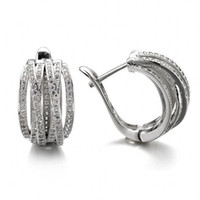 اليدوية الأزياء والمجوهرات 925 فضة تمهيد الأبيض واضح 5a زركون حزب النساء الزفاف الأذن الكفة الزفاف القرط هدية