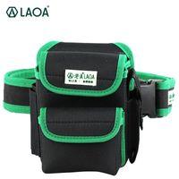 Laoa multifunktionsverktygssäck 600d Dubbelskikt Oxford Tyg Reparationspåsar Midjepaket Väska för elektrikerhus med bälte