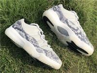 Kutusu ile 2019 Release 11 Düşük SE Yılan derisi Beyaz Gri Erkekler Basketbol Ayakkabı Gerçek Karbon Elyaf CD6846-002 Işık Kemik Otantik Ayakkabı Sneakers