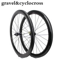 2019 جديد cyclocross عجلة 700c 27 ملليمتر واسعة الكربون الطريق دراجة حافة مع تايوان powerway 6 الترباس orr مركز قفل المحور CX32 الحصى الدراجة العجلات