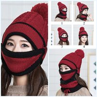 1PC Female Winter Beanies Knitted Thickened Hat with Warm Ma...