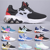 Presto React pas cher Chaussures Hommes Femmes Brutal Honey Black Phantom Blanc Habanero Rouge BREEZY Jeudi Casual Chaussures Taille 36-44