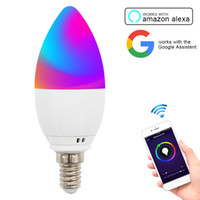 Wifi Lâmpadas LED inteligente bulbo 5W E12 E14 E26 E27 APP Remote Control Alexa eco Google Início Inteligente Dimmable Led noite Bulb