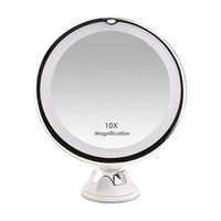 LED-Leuchten 10X Kosmetikspiegel zur Wandmontage mit Saugnapf-Kosmetikspiegeln Fashion Make up Tools