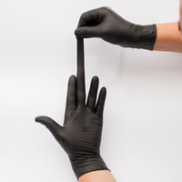 disposable gloves black non-slip rubber protective nitrile gloves for universal work garden household cleaning anti-skid anti-acid gloves