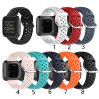 Alças de substituição de silicone Banda Universal para Fitbit Versa 2 Lite SE Galaxy Watch Active 2 Clássico 20mm 22mm pulso pulseira pulseira