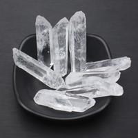 Небольшой размер чистый прозрачный натуральный прозрачный кристалл палочки кварцевый камень исцеление кристалл подарок полированные ремесла для продажи