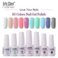 Arte Clavo 85 colori Gel UV LED polacco chiodo del gel per unghie Soak Off Nails Lacca glitter 8ML rosso nudo ibrida polacco