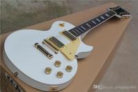 뜨거운! 금색 본체가있는 표준 12 줄 흰색 일렉트릭 기타