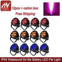 12pcs étanche LED Par batterie 6x18W RGBWA + UV sans fil DMX extérieur IP54 effet d'éclairage pour Disco DJ Music Party Club