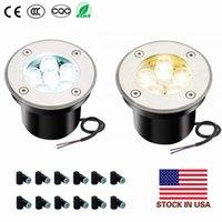ABD Stok + Toptan Sıcak satış 5W ww pw cw LED Açık Zemin Bahçe SEL Işık Spot Işık IP68 su geçirmez altında