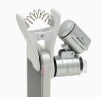 휴대폰 렌즈에 대한 LED 조명 클립 60X 망원경 카메라 현미경 돋보기 렌즈와 범용 60X 광학 줌 현미경