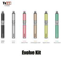 cera autêntico Yocan Evolve Starter Kit roxo caneta vaporizador com rosca 0.8ohm Quartz bobina dupla 650mAh Battery ego atomizador Original