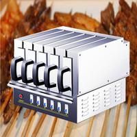 2019 Commerciall Lamb Kebabs Elektroofen Backschnur Maschine Elektrogrill Maschine BBQ Grill Grill Maschine 3900W