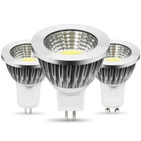 LED de COB GU10 MR16 dissipation thermique élevée aluminium 5w e27 downlight spot dimmable les ampoules conduit décoration intérieure AC85-265V DC12V