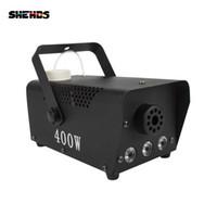 Shehds 무대 조명 실제 RGB 흡연기 400W LED 3in1 안개 기계 원격 제어 및 DJ 바 용 DMX