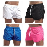 2020 Hot Summer Shorts Hommes de couleur unie Shorts Plage respirante Loose Summer Casual hommes Taille Large