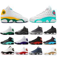 2020 الجديدة ملعب 13 فلينت ولدت جزيرة شيكاغو لاكي أخضر رمادي تو كرة السلة للرجال أحذية 13S ولديك لعبة جو رمادي DMP أحذية رياضية