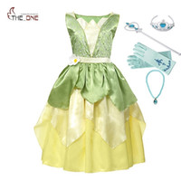 Muababy Girl Tiana Princess Costume Children Sleeveless The ...