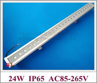 2019 neues luxuriöses Aluminium und verstärktes Glas 24 LED 24W LED-Wandwascher-Licht-Lampe LED-Bar-Licht-Flut-Licht AC85V-265V-Eingang