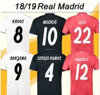 2018 19 Toni Kroos Nome personalizado Camisas de futebol real madrid  Camisas De Futebol 9 BENZEMA 71fafc4f3c6dd