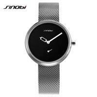 SINOBI relojes de las mujeres de la astilla de primeras marcas de moda creativa Dial cuarzo de las señoras del reloj de reloj pulsera de reloj de las mujeres Reloj Mujer Malla horas