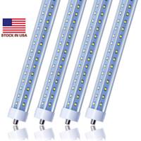 USA STOCK + 72W 8 pieds LED 8FT PIN SIMPLE T8 FA8 FA8 Un seul broche LED TUBE LED Lampes à tubes fluorescents en forme de V