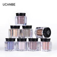 UCANBE 8 pièces / Set Shimmer fard à paupières poudre de maquillage de yeux Pigment Glitter Ombre Poudre Waterproof nue yeux cosmétiques
