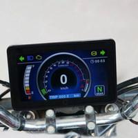 오토바이 풀 컬러 LCD 디스플레이 다기능 계기판 교체 12V 디지털 속도계 디스플레이 명령
