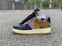 Travis x Scottss 1s Kaykay çalışan Ayakkabı Çok Renkli Dikiş Fermuar Süet Erkek Kadın Tasarımcı sneaker szie 36-45