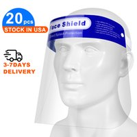 20pcs Safety Face Shield, Transparent Full Face Protective V...